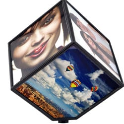 Revolving 6-photo Display Cube