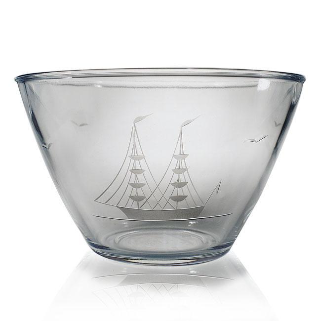 Susquehanna Glass Hand-cut Clipper Ship Bowl