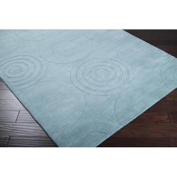 Hand-crafted Solid Colored Casual Rohit Wool Rug (5' x 8')