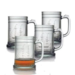 Clipper Ship Tankard Mugs (Set of 4)