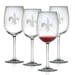Fleur De Lis Wine Glasses (Set of 4)