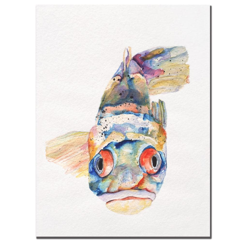 Pat Saunders-White 'Blue Fish' Canvas Art
