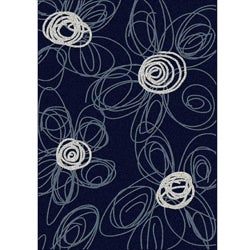 Brilliance Flower Area Rug (5'5 x 7'7)