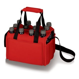 Red Insulated 12-Beverage Neoprene Tote