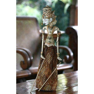 Albesia Wood 'Brave Rama' Collectible Rod Puppet (Indonesia)