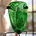 Blown Glass 'Green Light of Guadalupe' Candleholder (Mexico)