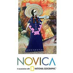 Handcrafted Wood 'Adelita' Display Jigsaw Puzzle (Mexico)