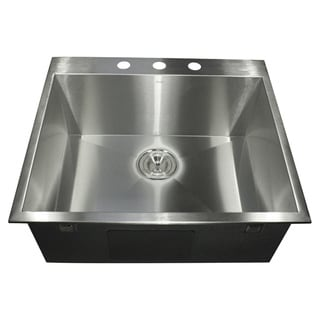 Stainless Steel Zero-radius Drop-in Sink