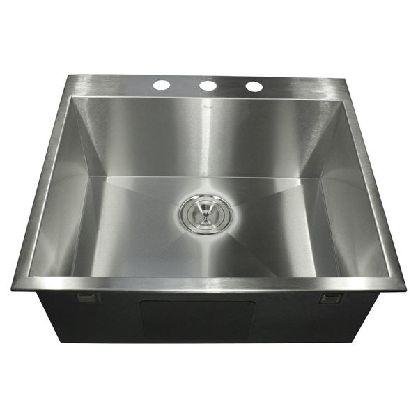 Drop In Stainless Steel Utility Sink : Collection 30-inch Zero Radius Undermount Stainless Steel Kitchen Sink ...