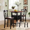 Overstock.com deals on Tribecca Home Rwanda Two-tone Napoleon 3-piece Bistro Kitchen Set