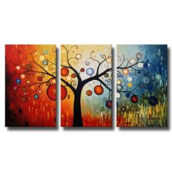 'Life Tree V' Oil Paint 3-piece Canvas Art Set