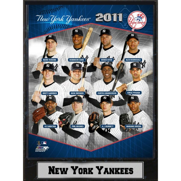 Encore Select 2011 New York Yankees Stat Plaque (9x12)