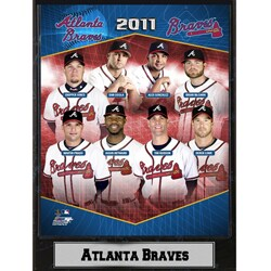 2011 Atlanta Braves Stats Plaque
