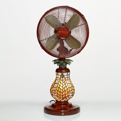 Deco Breeze DBF0752 Ferns 10-inch Mosaic Glass Table Fan