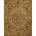 Safavieh Handmade Heritage Medallion Light Brown/ Grey Wool Rug (5' x 8')