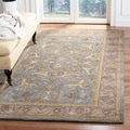 Handmade Heritage Kashen Blue/ Beige Wool Rug (5&#39; x 8&#39;)