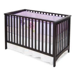 London Euro Style Jamocha Stationary Crib