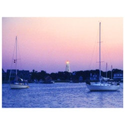 Orange Cat Art Jill M. Davis 'Ocracoke Harbor Light Sunset' Photo Print