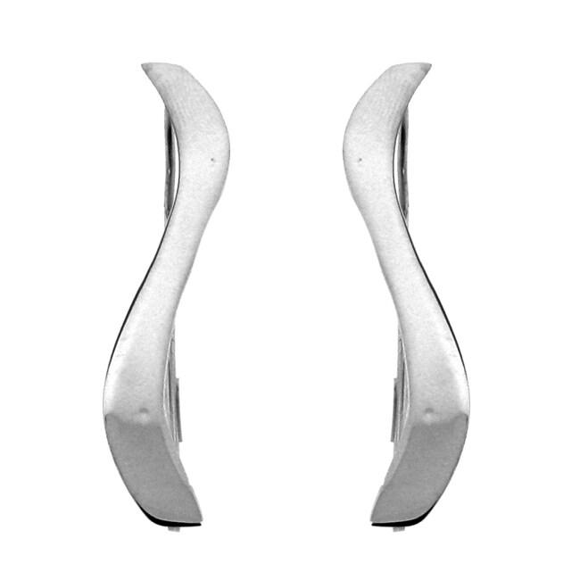 Sterling Silver Sleek Line Earrings