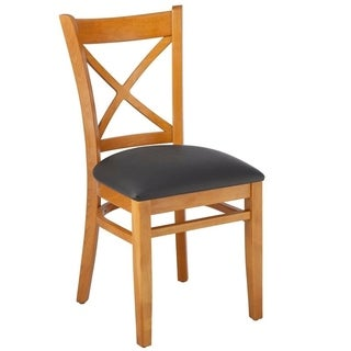 X-back Solid Wood Dining Chairs (Set of 2)