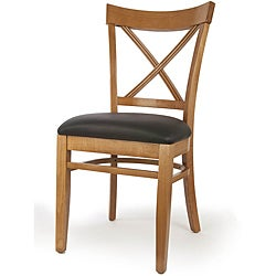 X-back Cherry Finish Dining Chairs (Set of 2)