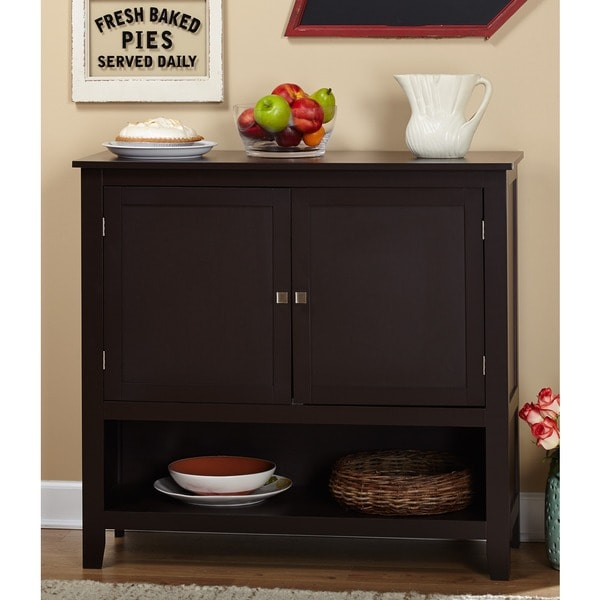 Simple Living Montego Espresso Wooden Buffet