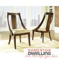 Somerton Dwelling Manhattan Slipper Chairs (Set of 2)
