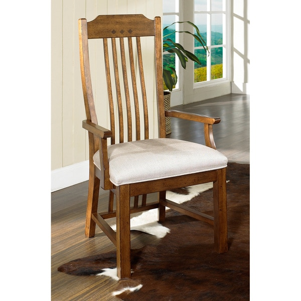 Somerton Dwelling Craftsman Dining Arm Chairs (Set of 2)