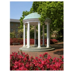 Orange Cat Art Jill M. Davis 'UNC-CH Old Well and Azaleas' Vertical Photo Print