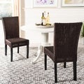 Safavieh St. Croix Wicker Colonial Brown Side Chairs (Set of 2)