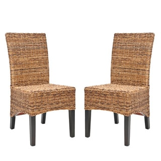 Safavieh St. Croix Wicker Natural Tan Side Chairs (Set of 2)