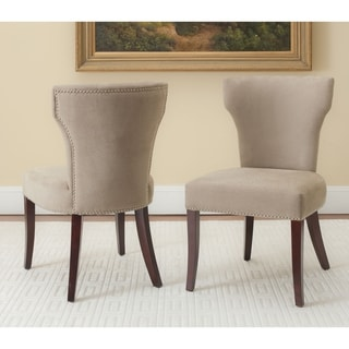 Safavieh Matty Dark Wheat Tan Nailhead Side Chairs (Set of 2)