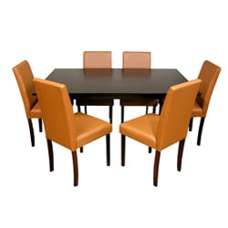 Warehouse of Tiffany 7-piece Toffee Dining Furniture Set