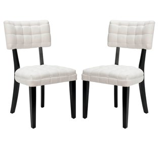 Safavieh Soho Tufted White Side Chairs Set