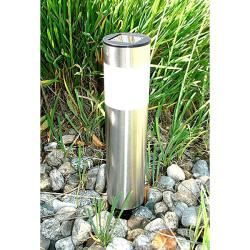 Stainless Steel Long Tube Solar-powered Lights (Set of 8)