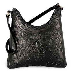 Leather 'Nocturnal Flower' Medium Handbag (Mexico)