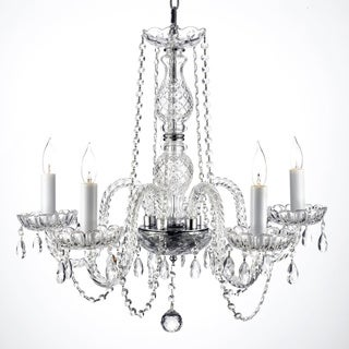Gallery Venetian Style All-crystal 5-light Chandelier