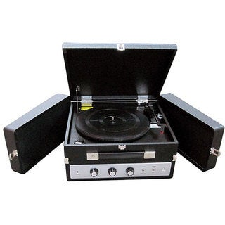Pyle PLTTB8UI Fold-Out Speaker Vinyl Turntable Record Player