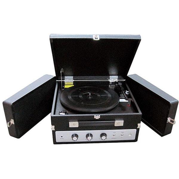 Pyle PLTTB8UI Fold-Out Speaker Vinyl Turntable Record Player