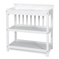 Matte White Child Craft Universal Dressing Table and Twin Headboard