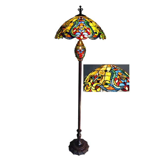 collection tiffany style victorian 3 light dark bronze floor lamp. Black Bedroom Furniture Sets. Home Design Ideas