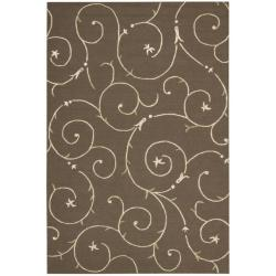 Nourison Cambria Brown Wool Blend Rug (8' x 10')
