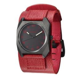 Nixon Women's 'The Scout' Stainless Steel and Leather Quartz Watch