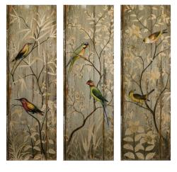 Set of 3 Americana Feathered Friends Wall Displays