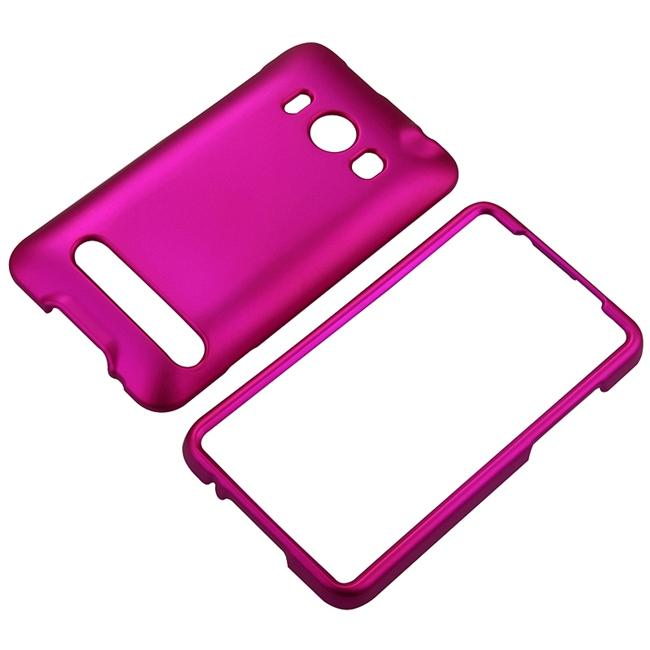 Snap-on Rubber Coated Case for HTC EVO 4G