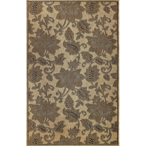 "Alexa Outdoor/Indoor Floral Rug (5'3"" x 7'9"")"
