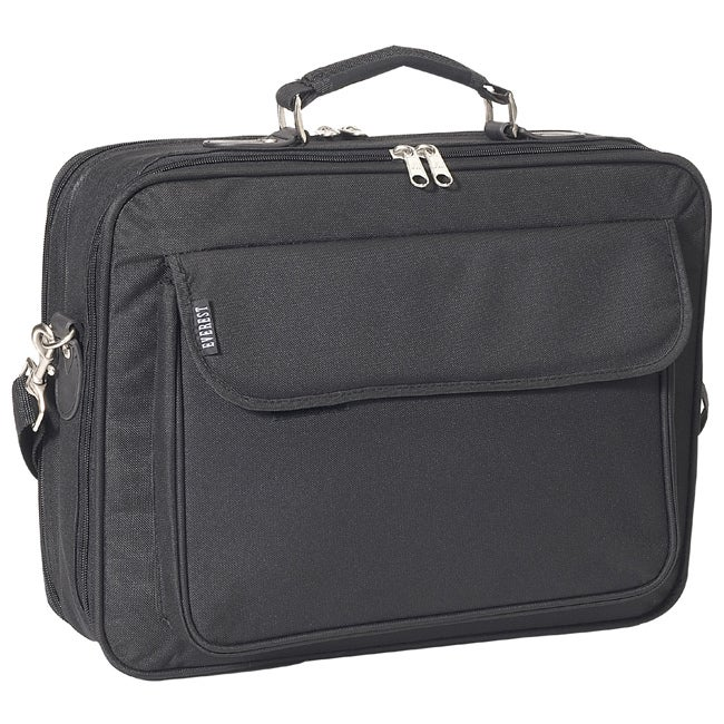 Everest Black 15-inch 600 Denier Polyester Classic Laptop Case