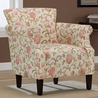 Tiburon Coral Print Arm Chair