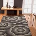 Handmade Alexa Moda Floral New Zealand Wool Area Rug (5' x 8')