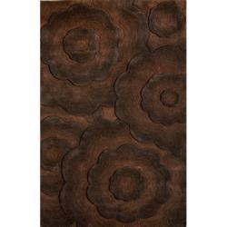 nuLOOM Handmade Moda Floral New Zealand Wool Rug (7'6 x 9'6)